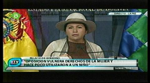 Paco denuncia nuevo ataque discriminatorio, racista de la oposición contra Evo