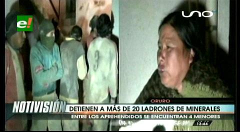 Oruro: Detienen a más ladrones de minerales