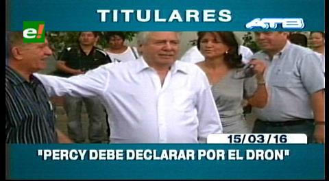 Titulares de TV: Defensor del Pueblo pide que se cite a declarar a Percy Fernández por el caso dron
