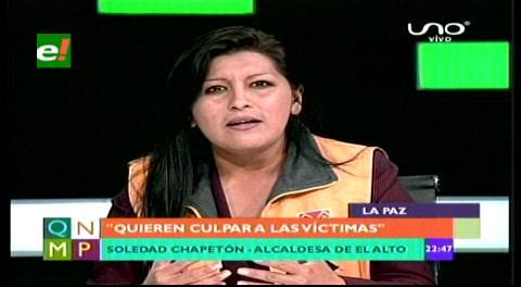 """Chapetón: """"Lo que ocurrió el 17 de febrero en El Alto fue un asesinato planificado"""""""