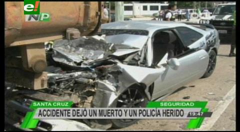 En trágico accidente muere policía en servicio activo