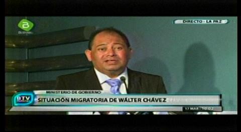 Gobierno boliviano niega que haya acosado a Wálter Chávez y deja a Conare decisión sobre refugio