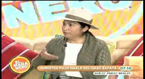 "Paco a Evo: ""¿Le has tocado la pancita"" a Gabriela Zapata?"