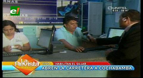 Abren la carretera nueva a Cochabamba, ya venden pasajes