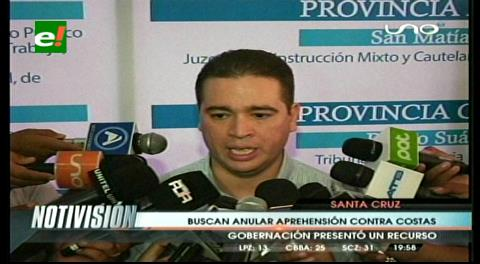 Presentan Acción de Libertad para anular la declaratoria de rebeldía de Rubén Costas