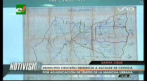 Municipio cruceño realiza acciones legales en defensa del límite con Cotoca