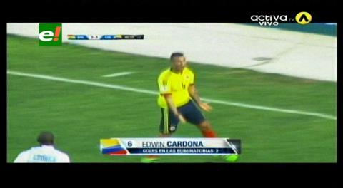 Al final del cotejo: Colombia le gana 3-2 a Bolivia