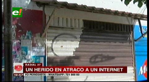 Joven es herido de bala durante atraco en un internet