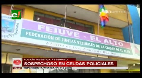 Detienen al dirigente del distrito siete por linchamiento en El Alto