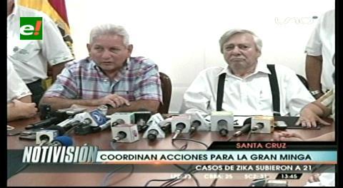 Rubén y Percy ratifican Minga Departamental para este 10 de abril