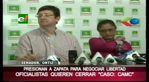 Senador Ortiz: El MAS busca cerrar caso CAMC y librar de responsabilidad al presidente Morales