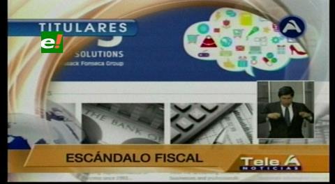 """Titulares de TV: Empresas bolivianas implicadas en el escándalo del """"Panamá Papers"""", Gobierno dice que se debe investigar"""