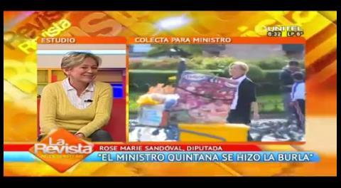 """Sandóval y la iliquidez de Quintana: """"Es hacerse la burla de los bolivianos»"""
