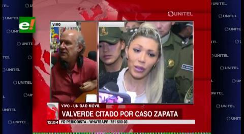 Fiscalía convoca a Carlos Valverde por el caso Zapata
