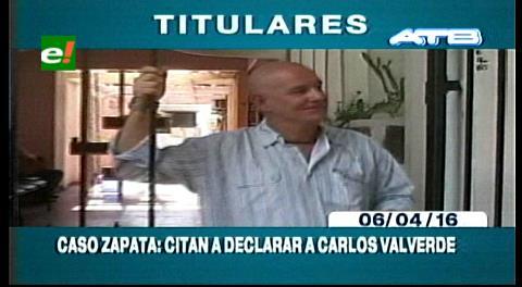 Titulares de TV: Periodista Carlos Valverde dice que se acogerá al silencio por el caso Zapata