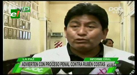 MAS de Santa Cruz anuncia proceso penal contra gobernador Rubén Costas