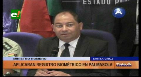 Aplicarán registro biométrico para las visitas en Palmasola