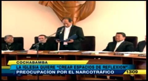 Iglesia Católica ratifica su preocupación por el narcotráfico en Bolivia
