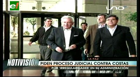 Comisión de Autonomías recomienda proceso penal contra el gobernador Costas