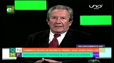 Humberto Vacaflor: La bronca de Evo denota que perdió no por 2 puntos sino por 10