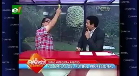 "Tarjeta amarilla: A Fermín se le pasó la ""mano"""