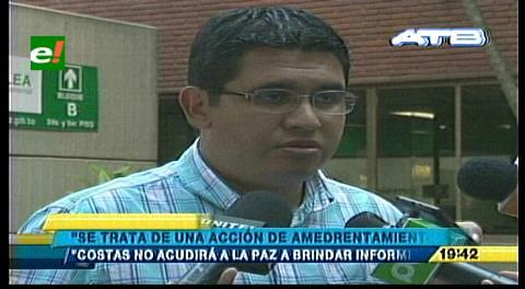 Gobernación cruceña pide argumentos ante amenazas de Gabriela Montaño