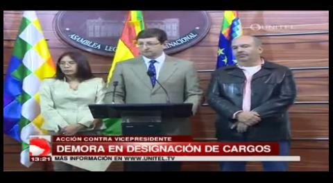 UD presenta acción de cumplimiento contra Álvaro García Linera