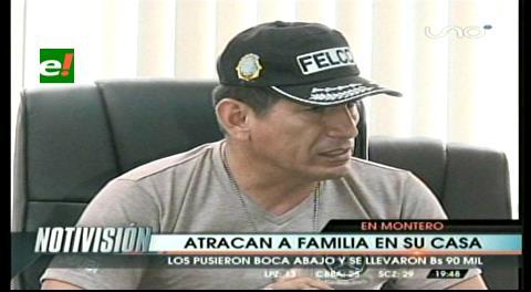 Delincuentes roban Bs 90 mil en violento atraco en Montero