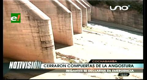 Cochabamba: Comunarios cierran compuertas de la Angostura y se declaran en emergencia