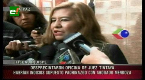 Fiscalía registra oficina de una juez vinculada a Milton Mendoza