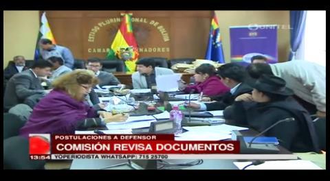 Comisión parlamentaria ya descartó a varios postulantes para Defensor del Pueblo