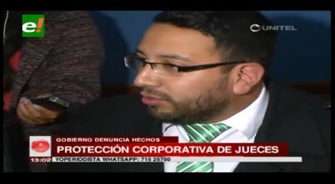 Gobierno denuncia protección corporativa de jueces por corrupción