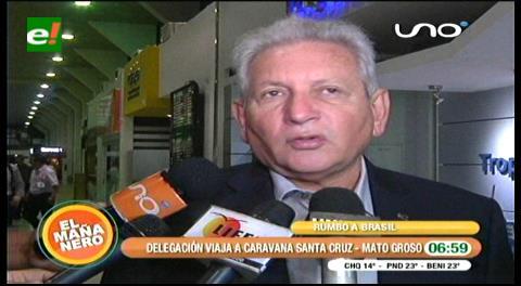 Caravana de integración liderada por Rubén Costas partió a Mato Grosso