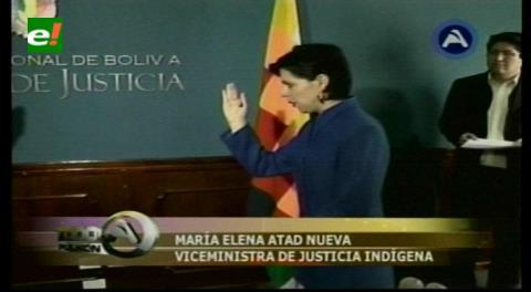 Posesionan a la nueva viceministra de Justicia Originaria