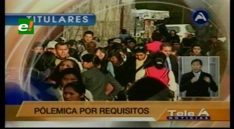 Titulares de TV: Postulantes a la Defensoría del Pueblo impugnarán su inhabilitación
