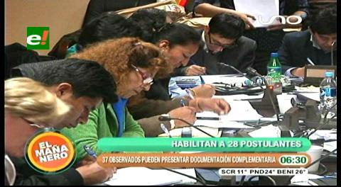 Habilitan a 28 aspirantes a Defensor; 37 en consulta