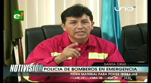 Bomberos reclama apoyo a Gobernación y Alcaldía cruceña