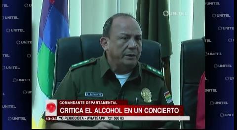 La Policía cuestiona el permiso municipal para la venta de alcohol en concierto