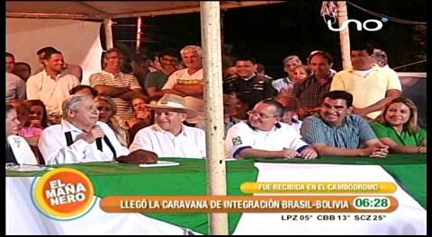 Percy Fernández recibió a la Caravana de Integración Matto Grosso–Santa Cruz