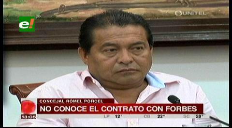 Publicación: Concejal Pórcel solicitará un informe sobre contrato con Forbes