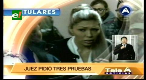 Titulares de TV: Gabriela Zapata no se sometió a la prueba de ADN