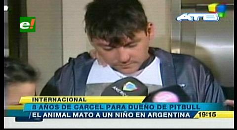 Argentina: Dieron 8 años de prisión a dueño del pitbull que mató a niño de 2 años