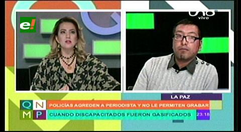 "Periodista Alanoca: ""Los policías me dijeron que borre todo o me iba va a pasar algo peor"""