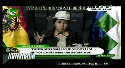 Ministra Paco denuncia que detrás de movilización de personas con discapacidad hay móviles políticos