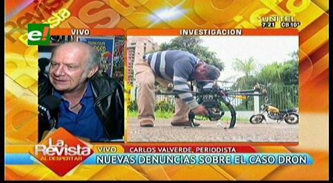 Caso dron: Valverde denuncia posible negociado de $us. 160 mil