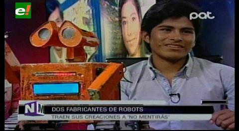 Esteban Quispe, constructor de robots: Soy más apreciado en EEUU que en Bolivia