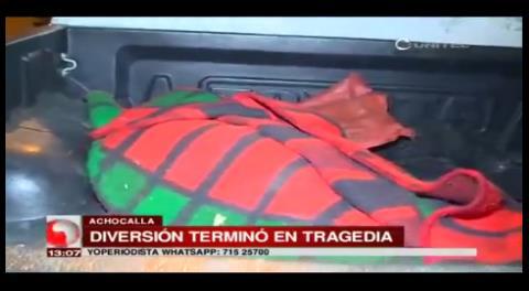 Mujer muere ahogada tras caer de una canoa en la laguna de Achocalla