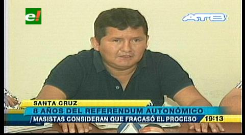 Santa Cruz: El MAS cuestiona al MDS por el proceso autonómico