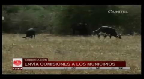 Cochabamba: Envían comisión a ocho municipios afectados por la sequía