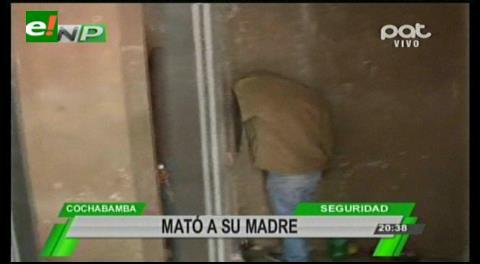 Otro caso de feminicidio en Cochabamba: Un hijo asesina a su madre
